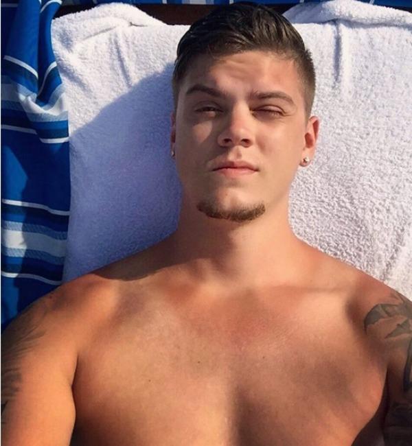 Tyler Baltierra on his honeymoon