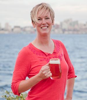 Robyn Schumacher, beer program director at Marination ma kai brewery and restaurant