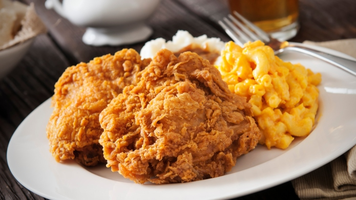 Mac and cheese-fried chicken is the