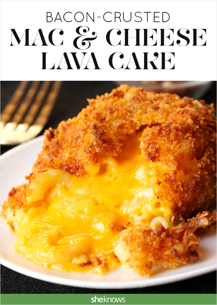 mac and cheese lava cake