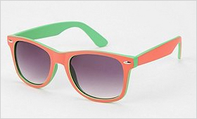 Urban Outfitters Colorblock Pop Risky Sunglasses