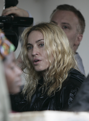 Madonna leaving the African country's high court