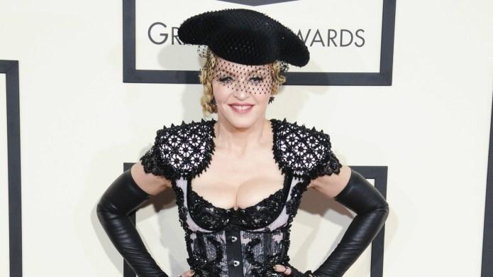 Madonna's fall at the Brit awards