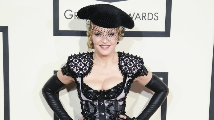 Madonna's fall at the Brit awards