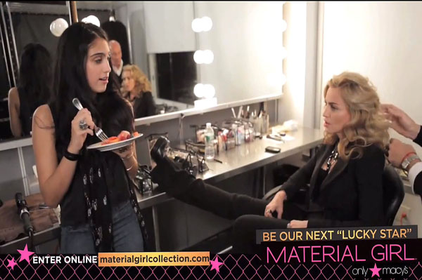 Madonna and Lourdes talk Material Girl model search