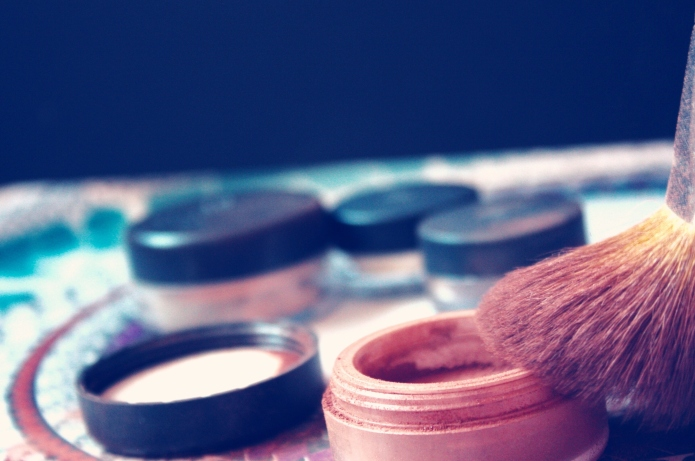 Close-Up Of Make-Up Objects On Table