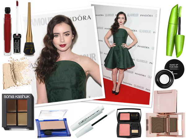 Get lily Collins' makeup looks