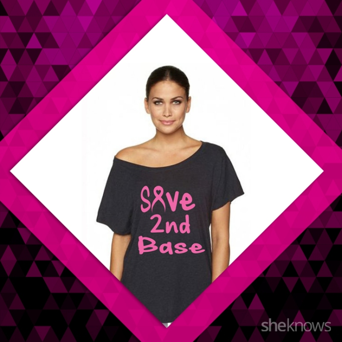 Save second base, breast cancer shirt