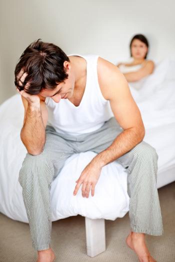 Man annoyed at girlfriend