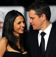 Matt Damon and wife Luciana