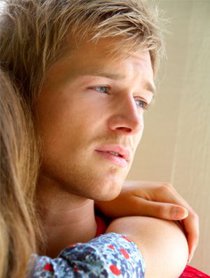 Man thinking about his relationship