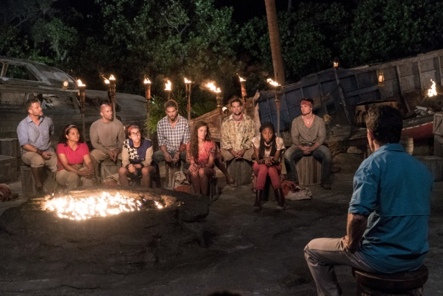 Mana tribe at second Tribal Council on Survivor: Game Changers