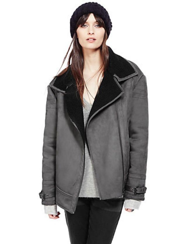 M&S shearling coat