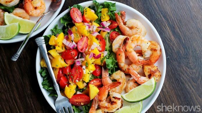 Bright fresh flavors make shrimp and