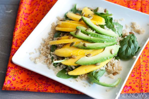 Tropical mango avocado salad with fresh citrus dressing
