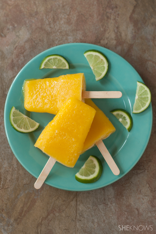 Mango margarita popsicles