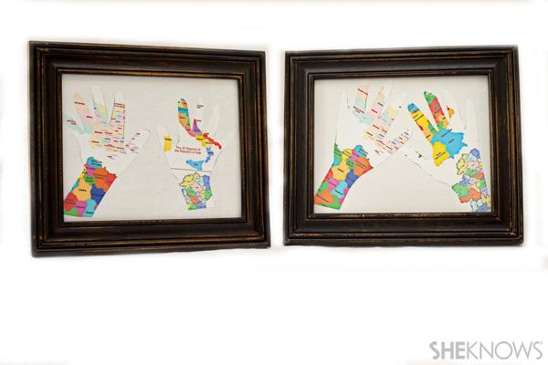 Map handprint craft