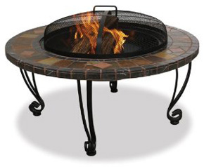 Slate and marble fire pit