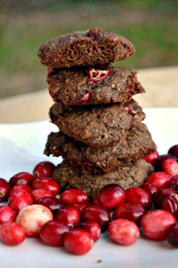 Marbled chocolate cranberry cookies