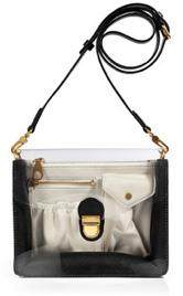Marc by Marc Jacobs Black Leather/PVC Crossbody Bag $225