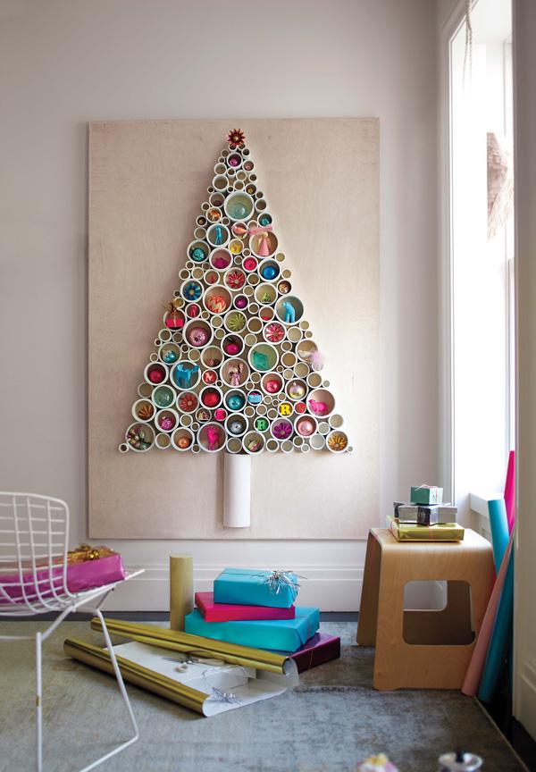 PVC Christmas tree wall art by Martha Stewart