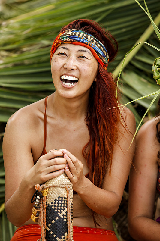 Mari Takahashi at Millennials beach on Survivor: Millennials Vs. Gen-X