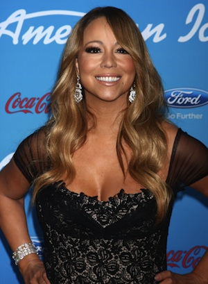 Mariah Carey at AI finalists party