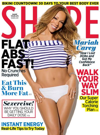 Mariah Carey on Shape magazine