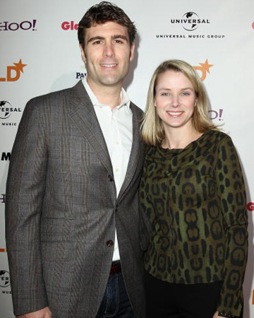 Marissa Mayer with husband