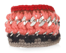 Marni Knitted Wool and Brass Chain Bracelet