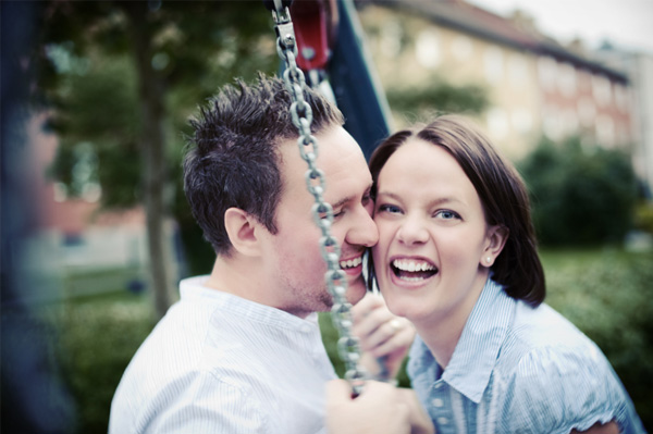 Married couple on playground