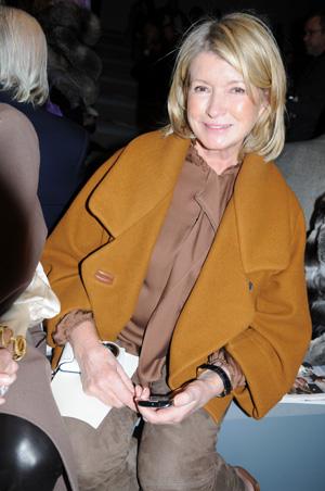 Martha Stewart at Fashion Week