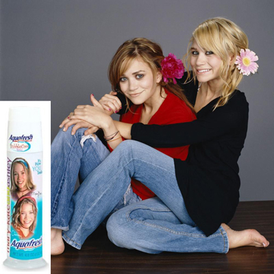 Mary-Kate and Ashley Olsen: Aquafresh Toothpaste