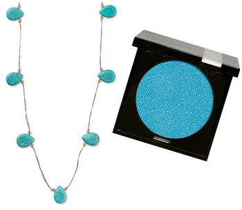 Matching necklace to eyeshadow