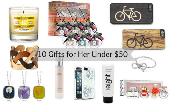 10 Gifts for her under $50