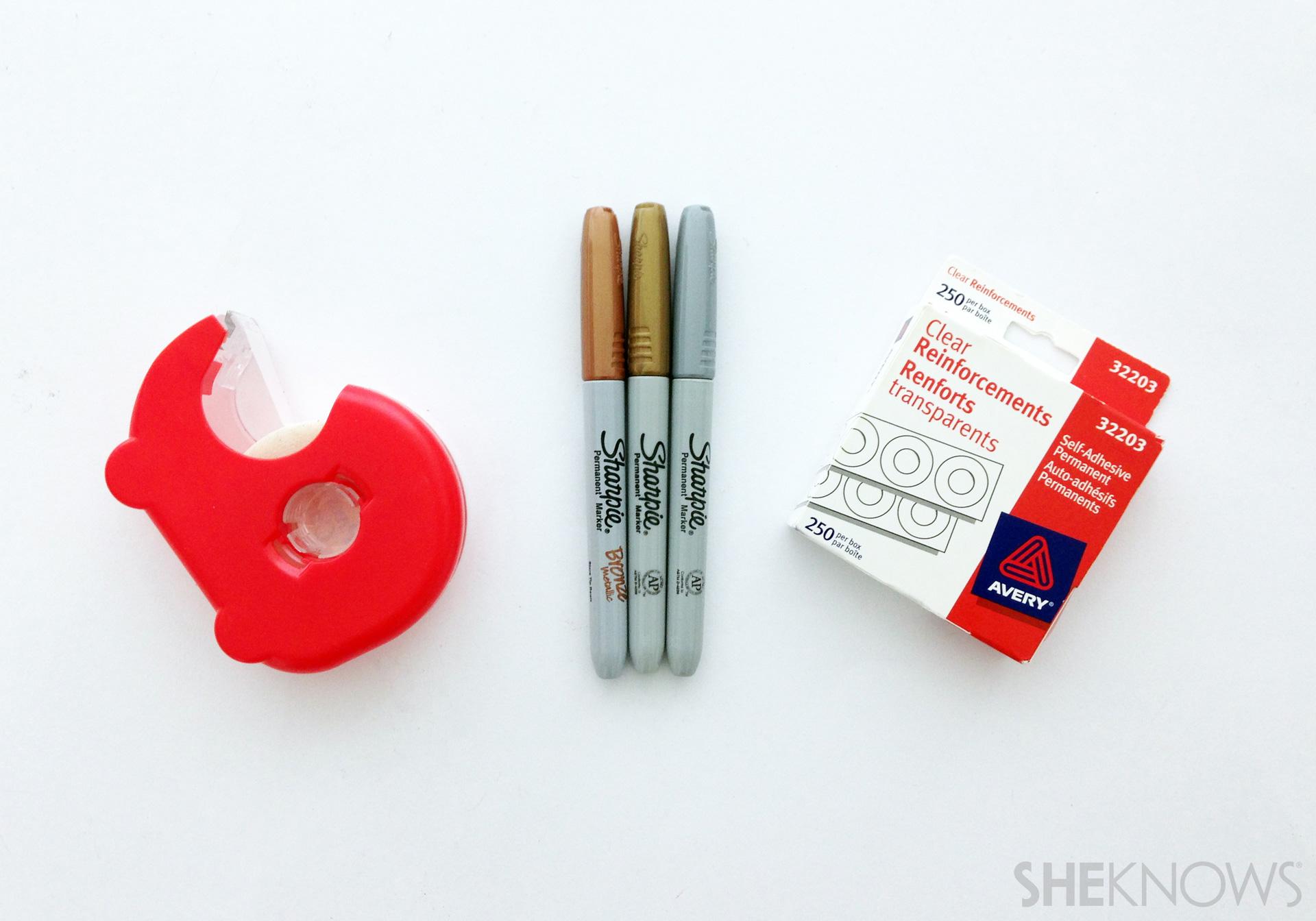 Stationary nail art supplies