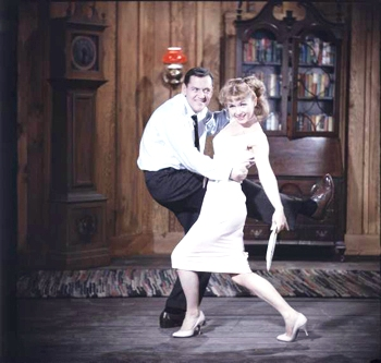 Tony Randall and Debbie Reynolds hoof it up in Mating Game