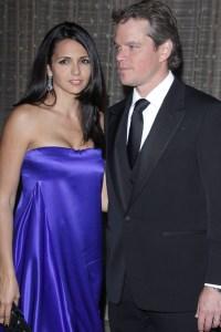 Matt Damon and his wife Luciana