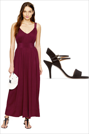 Formal maxi dress with heels