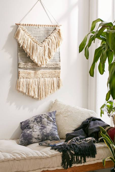 Modern Southwestern Decor: A woven wall hanging adds texture to your decor