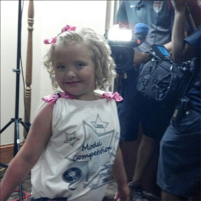 Honey Boo Boo at a model search in August 2012