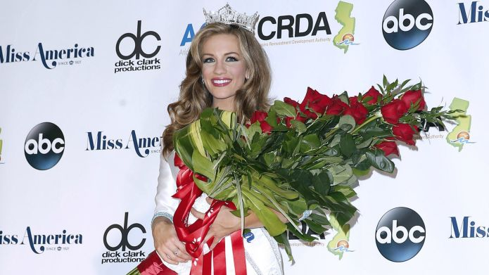 Newly crowned Miss America has already