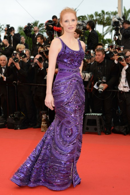 Ultra Violet On The Red Carpet | Jessica Chastain