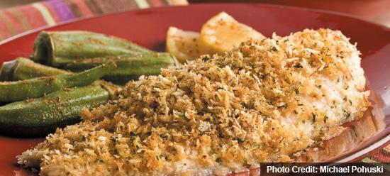 Baked Catfish with Seasoned Breadcrumbs