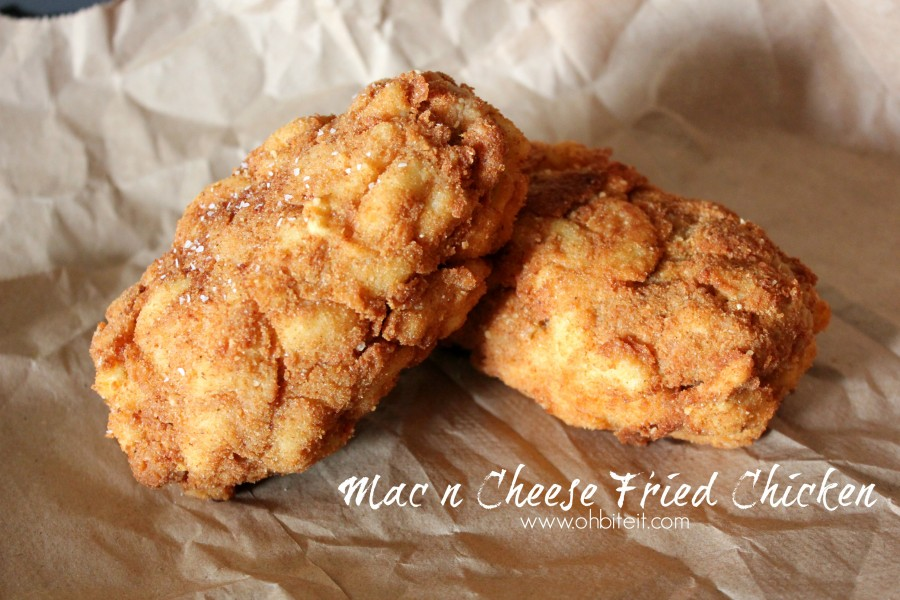 Mac and cheese fried chicken bites