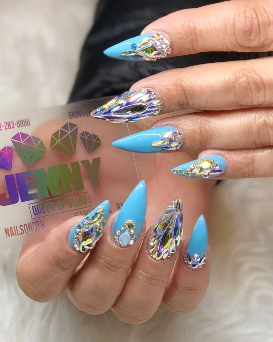 Bejeweled Stiletto Nails