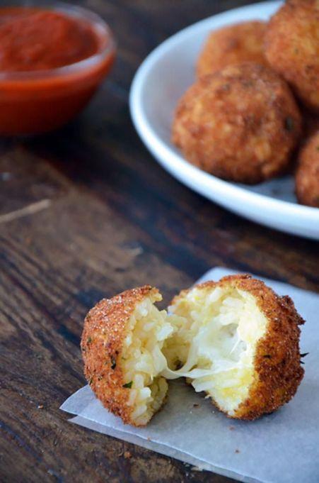 ArancinI (rice balls) with marinara sauce