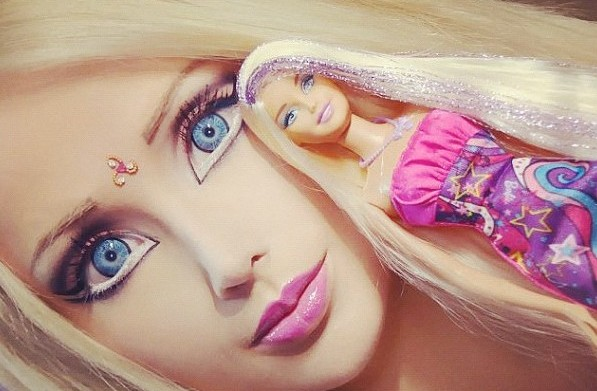 The famed 'Human Barbie' finally shares
