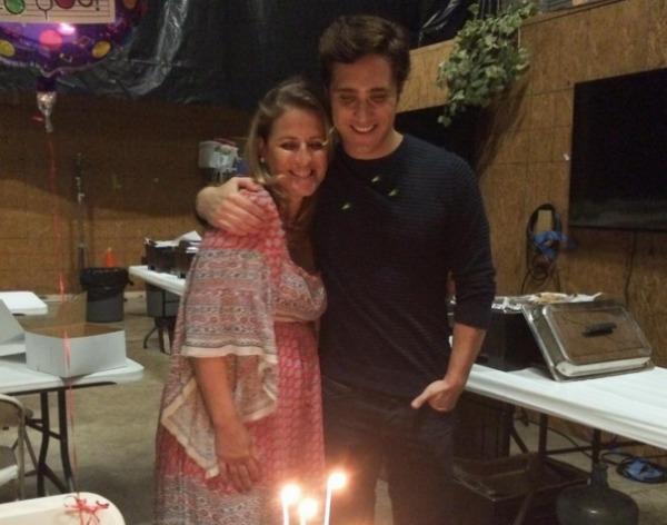 Diego Boneta and his mother