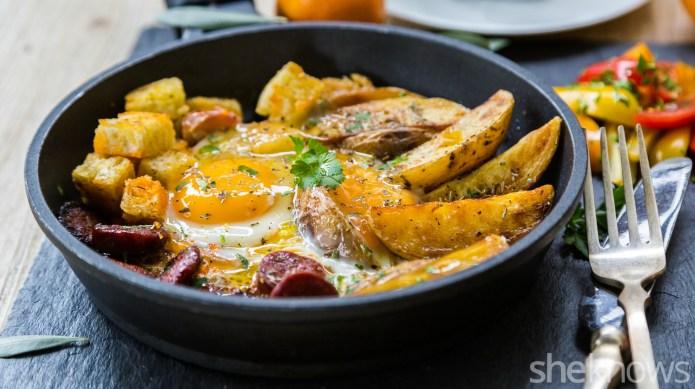 Savory one-skillet breakfast makes plain ol'